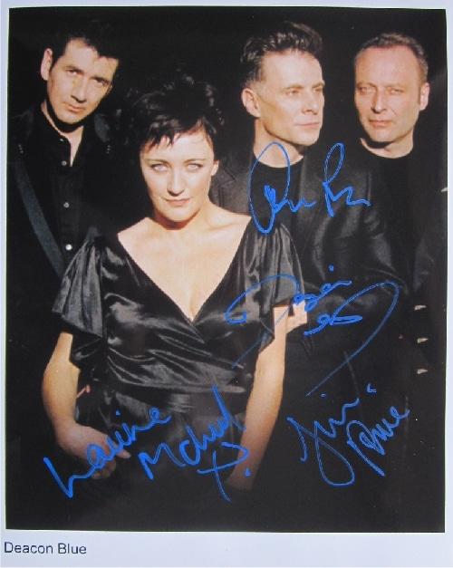 Deacon Blue Signed Photo