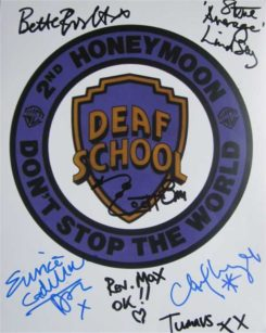 Deaf School Signed Photo