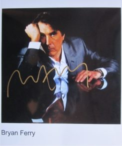 Bryan Ferry Signed Photo