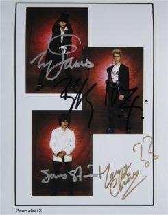 Generation X Signed Photo