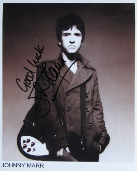 Johnny Marr Signed Photo