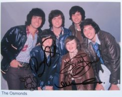 The Osmonds Signed Photo