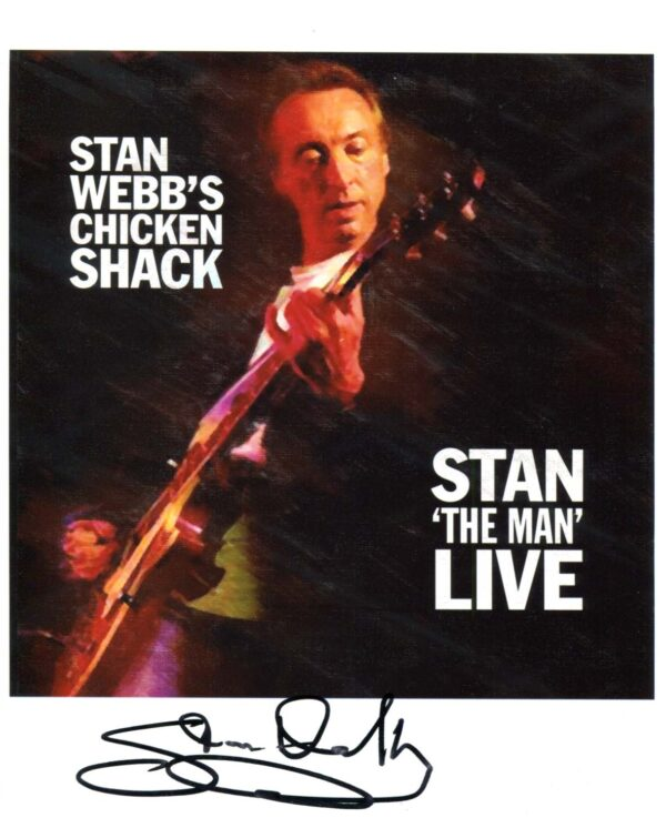 Stan Webb Signed Photo